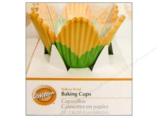 Baking Wraps / Cupcake Wrappers: Wilton Standard Baking Cups Yellow Petal 24 pc.