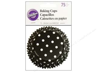 Wilton Baking Cup Standard Dots Black 75pc