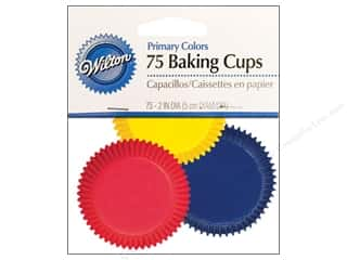 Baking Supplies Blue: Wilton Standard Baking Cups Assorted Primary Colors 75 pc.