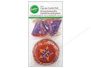 Sports Craft & Hobbies: Wilton Cupcake Combo Pack Sports 24 pc.