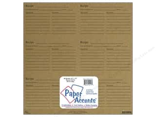 Paper Accents Cards: Paper Accents Recipe Card 12 x 12 in. Brown Bag (25 sheets)