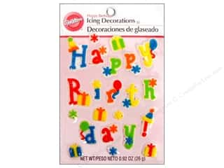 Birthdays Cooking/Kitchen: Wilton Edible Decorations Icing Decorations Happy Birthday