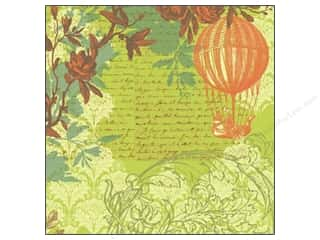 K & Company Papers: K&Company Paper 12x12 Engraved Garden Acetate Balloon (12 sheets)