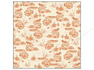 K&Co Paper 12x12 Engraved Garden Fabric Toile (12 sheets)