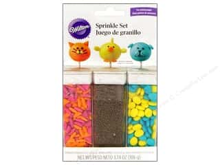 Wilton Edible Deco Pop Sprinkle Animal Faces 3pc