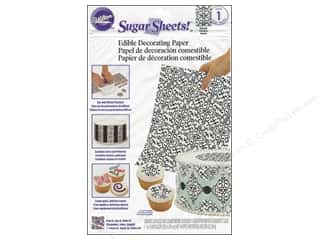Wilton Edible Deco Sugar Paper 8x11 Damask Blk&Wht