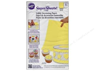 "Papers Cooking/Kitchen: Wilton Edible Decorations Sugar Sheets Paper 8""x 11"" Light Yellow"