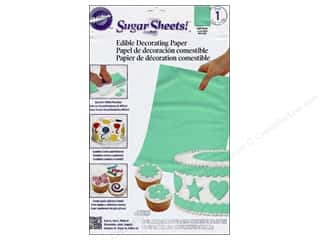 "Weekly Specials Fiskars Punches: Wilton Edible Decorations Sugar Sheets Paper 8""x 11"" Light Green"