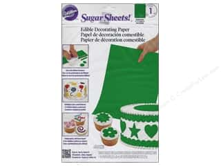 "Weekly Specials Fiskars Punches: Wilton Edible Decorations Sugar Sheets Paper 8""x 11"" Bright Green"