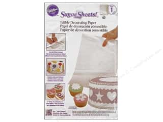 "Cooking/Kitchen Edibles / Foods: Wilton Edible Decorations Sugar Sheets Paper 8""x 11"" White"