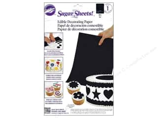 Wilton Edible Deco Sugar Paper 8x11 Black