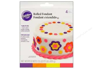 Wilton Fondant Rolled Neon Colors 4pc
