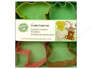 Wilton Cookie Cutter Set Metal Baby 4pc