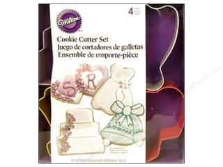 Wilton Cookie Cutter Set Metal Wedding 4pc