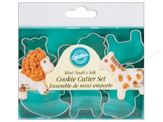 Wilton Cookie Cutter Set Metal Mini Noahs Ark 6pc