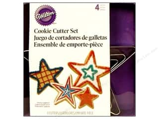 Weekly Specials Wilton Cookie Cutter: Wilton Cookie Cutter Set Nest Metal Stars 4pc