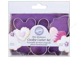 Wilton Cookie Cutter Set Metal Mini Romantic 6pc