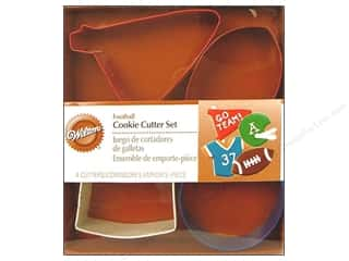 Wilton Cookie Cutter Set Metal Football 4pc