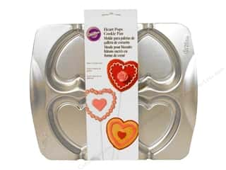 Baking Pans / Baking Sheets: Wilton Cookie Pops Pan Heart Aluminum