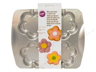 Baking Pans / Baking Sheets: Wilton Cookie Pops Pan Blossom Aluminum