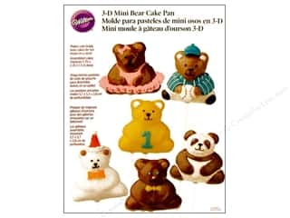 Wilton Cake Pops Pan 3D Mini Bear Aluminum