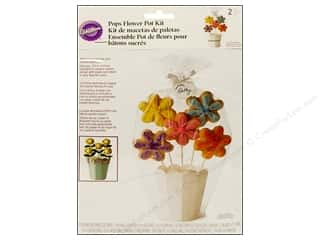 Cooking/Kitchen Clear: Wilton Containers Pops Flower Pot Gift Kit 2pc