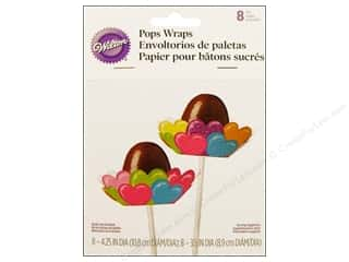 Wilton Decorations Pops Wrap Heart 8pc