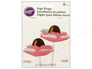 Baking Wraps / Cupcake Wrappers: Wilton Pops Wraps 8 pc. Ruffle