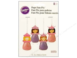 Wilton Decorations Pops Fun Pix Princess 8pc