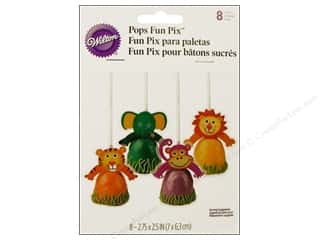 Cooking/Kitchen Black: Wilton Decorations Pops Fun Pix Jungle Pals 8pc