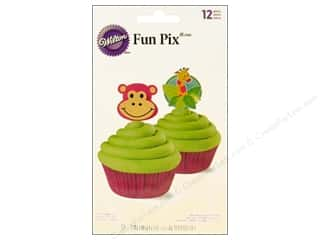 "Baking Supplies 12"": Wilton Decorations Fun Pix 3"" Jungle Pals 12pc"