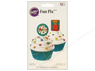 "Birthdays Cooking/Kitchen: Wilton Decorations Fun Pix 3"" Party 12pc"