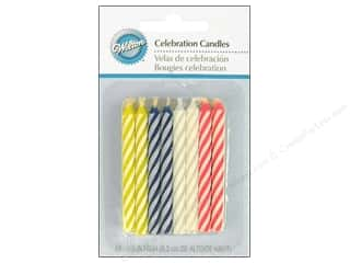 "Wilton Decorations Candles Celebration 2.5"" Assorted 24pc"