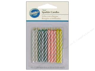 "Wilton Decorations Candles Sparkler Relighting 2.5"" Assorted 10pc"