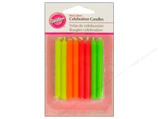 "Wilton Decorations Candles Celebration 2.5"" Hot Colors 24pc"