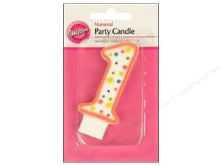 "Wilton Decorations Candles Party 3"" Numeral 1 Pink"
