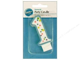 "Wilton Decorations Candles Party 3"" Numeral 1 Blue"
