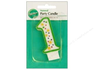 "Wilton Decorations Candles Party 3"" Numeral 1 Green"