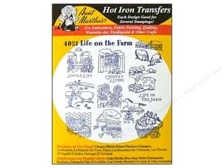 Baskets Yarn & Needlework: Aunt Martha's Hot Iron Transfer #4021 Black Life On The Farm
