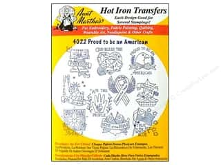 Irons: Aunt Martha's Hot Iron Transfer Proud Americcan