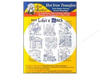 Aunt Martha&#39;s Hot Iron Transfer Blue Life&#39;s ABeach