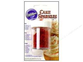 Wilton Edible Deco Cake Sparkles .25oz Red