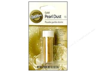 Cooking/Kitchen Clear: Wilton Edible Decorations Pearl Dust .1oz Gold