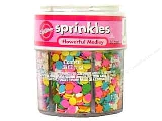 Cooking/Kitchen Flowers: Wilton Edible Decorations Sprinkles 6 Mix Assortment Flowerful Medley