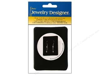 "Darice JD Earring Card 3.25""x2.5"" Blk Velvet 30pc"