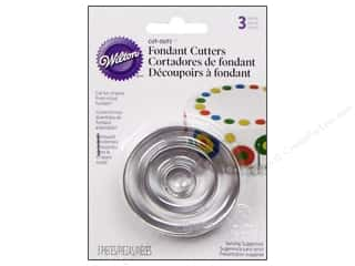 Wilton Tools Fondant Cutter Cut-Outs Round 3pc