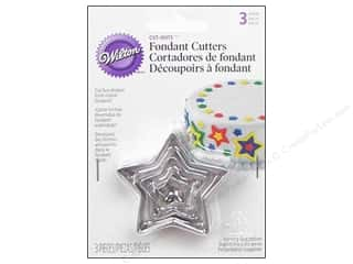 Wilton Tools Fondant Cutter Cut-Outs Star 3pc