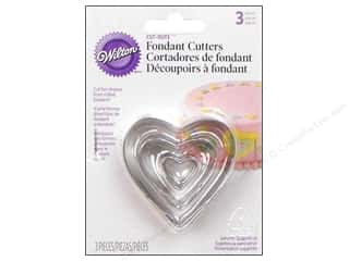 Wilton Tools Fondant Cutter Cut-Outs Heart 3pc