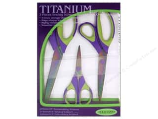"Scissors 10"": Sullivans Scissor Titanium Sewing Set 3pc"
