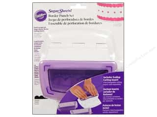 Clearance Wilton Cookie Cutters: Wilton Tools Sugar Sheet Border Punch Set with Scallop Insert